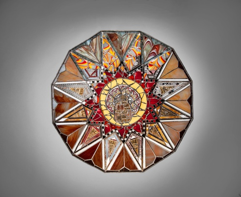 """Damascus Marquetry 2013 33""""x33"""""""